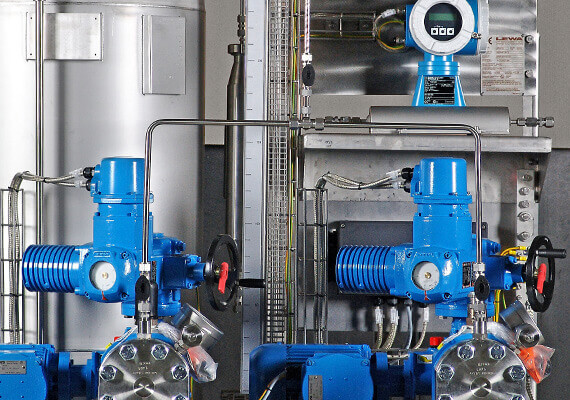 Components of LEWA pumps or systems can either be standard or customer-specific
